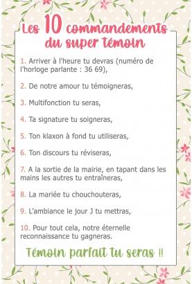Les 10 commandements du super témoin femme