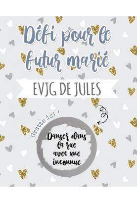 cartes à gratter EVJG pour le futur marié