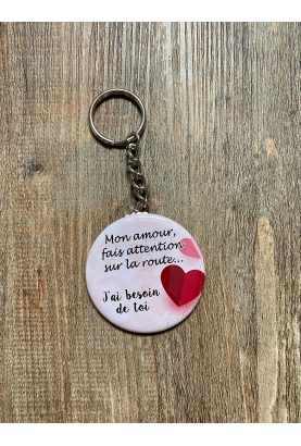 badge personnalisable amour coeur