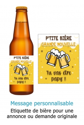 etiquette biere. etiquette annonce originale. annonce grossesse originale. biére original