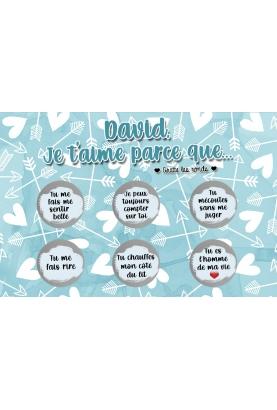 Carte à gratter saint valentin.  carte je t'aime. cadeau amoureux