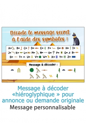 message hiéroglyphe. annonce originale. demande original. annonce grossesse
