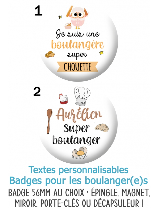 badges boulanger. badges métier. badge artisan. badge patissier