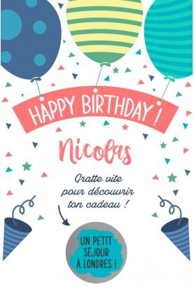 carte anniversaire. carte joyeux anniversaire