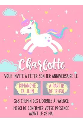 invitation anniversaire. carte invitation gratter. invitation original. invitation fete enfant. invitation licorne