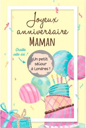 carte joyeux anniversaire. carte cadeau originale. carte anniversaire original. carte gratter cadeau anniversaire