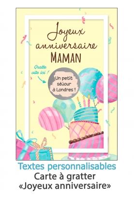 carte joyeux anniversaire. carte cadeau originale. carte anniversaire original