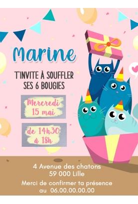 invitation anniversaire. carte invitation gratter. invitation original. carte invitation enfant original