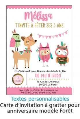 invitation anniversaire. carte invitation gratter. invitation original. invitation feavane. invitation anniversaire attrape fore