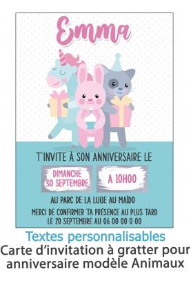 invitation anniversaire. carte invitation gratter. invitation original. invitation feavane. invitation anniversaire animaux. car