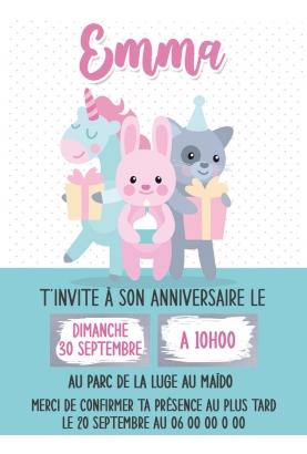 carte anniversaire. invitation carte anniversaire. carte invitation original. carte anniversaire enfant.