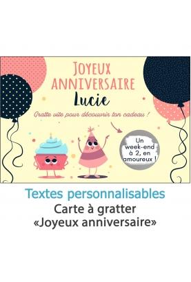 carte joyeux anniversaire. carte cadeau. anniversaire carte. cadeau original. carte gratter anniversaire