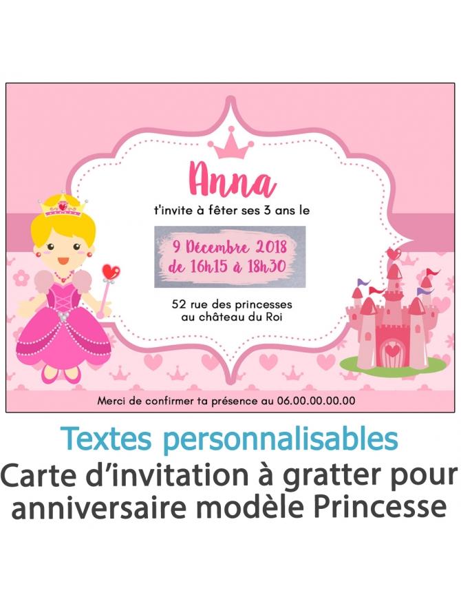 invitation anniversaire. carte invitation gratter. invitation original. invitation feavane. invitation anniversaire princesse. c