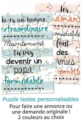 puzzle personnalisable. puzzle annonce. puzzle demande. annonce grossesse.