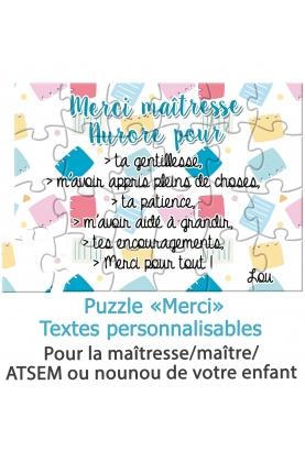 merci cadeau maitresse. carte maitresse. merci maitresse. puzzle maitresse. cadeau maitresse original