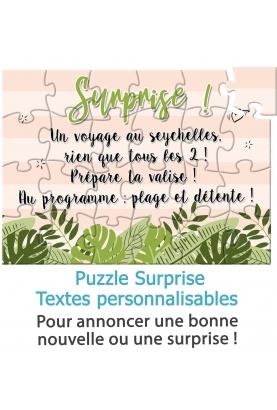 puzzle annonce bonne nouvelle. puzzle surprise. annonce originale. cadeau original. cadeau anniversaire. cadeau fete