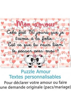 Puzzle amour pour demande en mariage ou pacs
