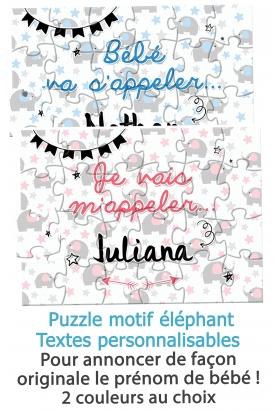 puzzle annonce du prénom de bébé. annonce prénom bébé. annonce originale prénom bébé