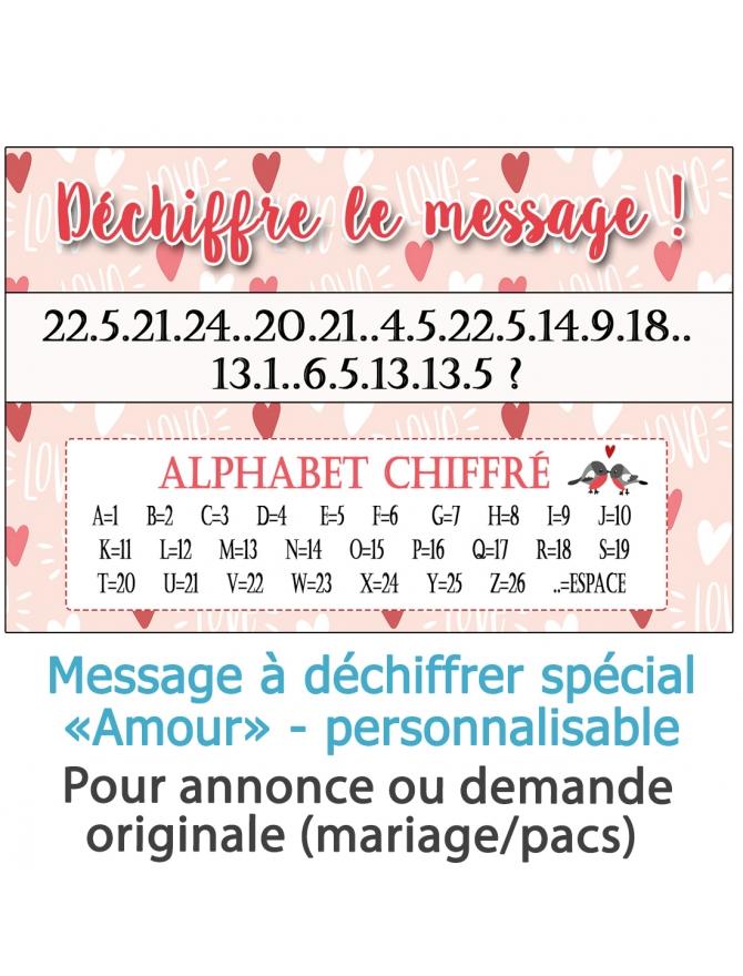 message déchiffrer. demande pacs original. demande mariage original. annonce pacs. annonce mariage