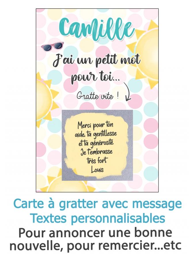 carte message. carte anniversaire. carte originale. carte à gratter cadeau