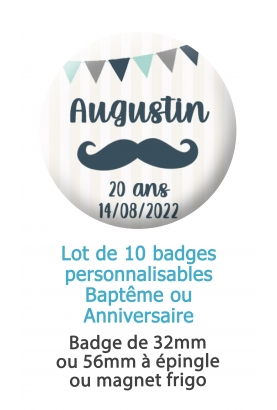 badges bapteme. badges anniversaire. badge fete. badge personnalise. badge décoration