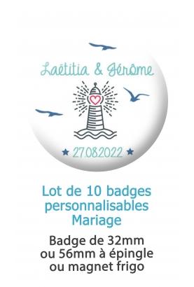 badges mariage cinéma. badge mariage personnalisé. badge cinéma. badge original mariage. badge feuillage. badge mariage marin