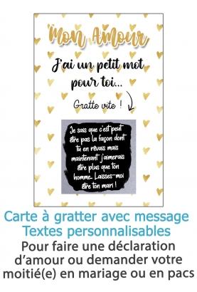 message amour. carte gratter couple. carte gratter amour. carte déclaration amour. demande mariage. demande pacs originale. décl