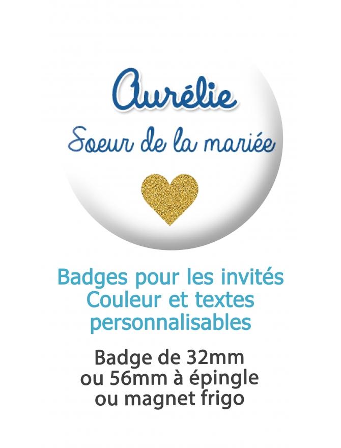 badge mariage. badges invité. badge personnalisé fête. badges personnalisé mariage. badges témoin. badges proches des mariés