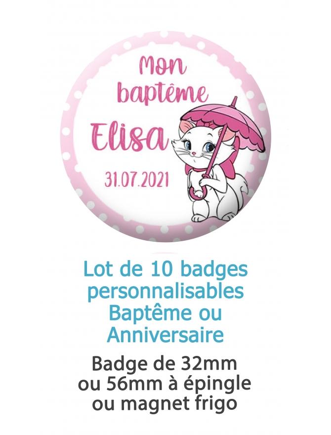 badges anniversaire aristochats. badges baptême aristochats. Badges aristochats. Badges Marie aristochats