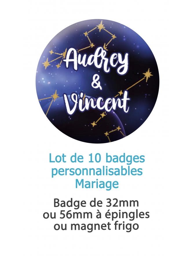 badges mariage astronomie. badge mariage personnalisé. badge astronomie. badge original mariage. badge astronomie.