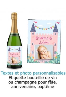 Etiquette bouteille de vin bapteme. Etiquette bouteille de vin anniversaire