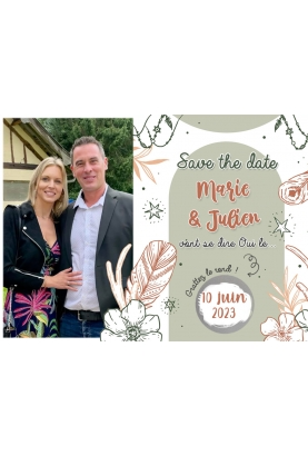 Save the date avec photo. save the date pacs. annonce mariage. annonce pacs.