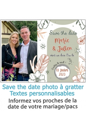Save the date à gratter pour annoncer votre mariage ou pacs. annonce mariage. annonce pacs.