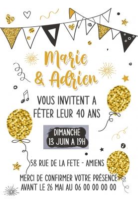 invitation anniversaire adulte. carte invitation adulte. carte adulte. invitation original.