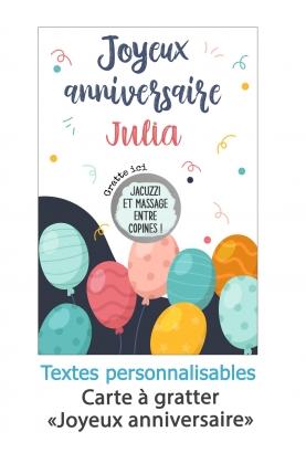"""Carte à gratter """"Joyeux anniversaire"""". carte anniversaire. carte anniversaire gratter."""
