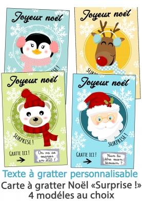 """Mini-carte à gratter """"Joyeux Noël"""" pour annonce ou demande originale. carte gratter noel"""