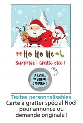 """Carte à gratter """"Noël"""" Surprise pour annonce ou demande originale"""