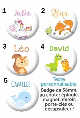 Badge à personnaliser enfant
