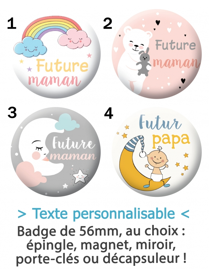 "Badge ""Futur(e) maman/papa"""