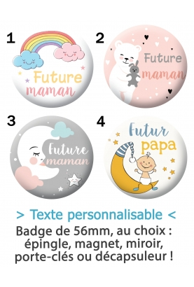 "Badge ""Futur(e) maman/papa"""
