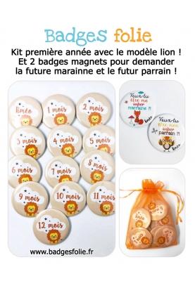 """Kit """"Ma première année"""" pour photographier bébé"""